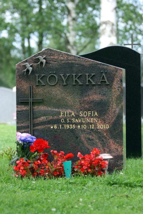 Klassinen harjamallinen muistomerkki. Kivenä on mäntsälän punainen graniitti, jolle on tyypillistä kuvioiden ja värien vaihtelut
